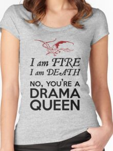 [The Hobbit] - Drama Queen Smaug Women's Fitted Scoop T-Shirt