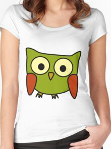 Groovy Owl Women's Fitted Scoop T-Shirt