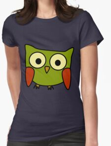 Groovy Owl Womens Fitted T-Shirt