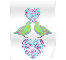 Partridge With A Heart  Poster