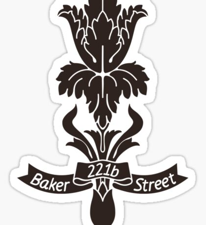 Baker Street flower Sticker