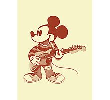 Grunge Mickey Photographic Print