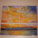 3 piece Sunset by AnnasArt