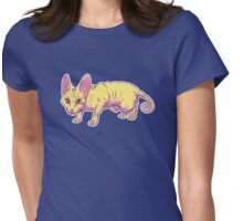 yellow sphynx Womens Fitted T-Shirt