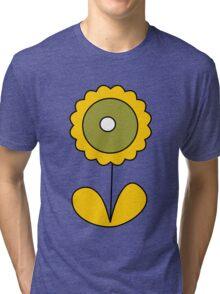 sixties flower Tri-blend T-Shirt