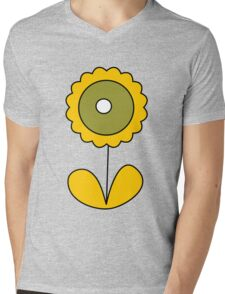sixties flower Mens V-Neck T-Shirt