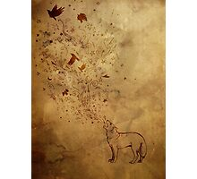 Wolfsong: earth tones Photographic Print