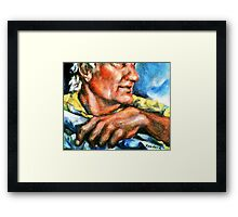 Portrait of Rick, Granite Sculptor Framed Print
