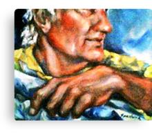 Portrait of Rick, Granite Sculptor Canvas Print
