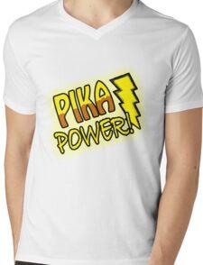 PIKA POWER Mens V-Neck T-Shirt