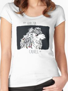 Rasta Bactrian Camel, from the Camelid Scene Women's Fitted Scoop T-Shirt