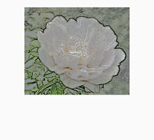 White Peony Bloom D Unisex T-Shirt