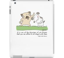 Best friends are silly / Dog doodle iPad Case/Skin