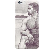 Man on Jetty iPhone Case/Skin