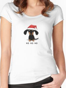 Doxie Clause Women's Fitted Scoop T-Shirt
