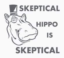 Skeptical Hippo is Skeptical One Piece - Long Sleeve