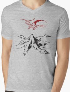 [The Hobbit] - Lonely Mountain (Light) Mens V-Neck T-Shirt