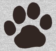 Dog Paw Print by Jenn Inashvili
