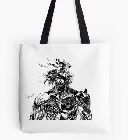 Metal Gear Rising Raiden Black and White Tote Bag