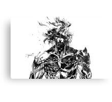 Metal Gear Rising Raiden Black and White Metal Print