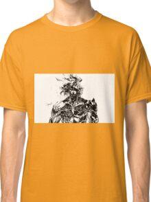 Metal Gear Rising Raiden Black and White Classic T-Shirt