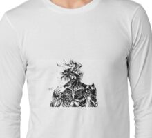Metal Gear Rising Raiden Black and White Long Sleeve T-Shirt