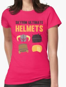 Skyrim ultimate helmets Womens Fitted T-Shirt