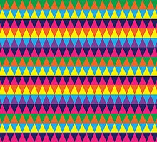 Triangle Geometric Pattern by ArtfulDoodler