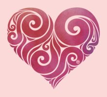 Swirly Heart Kids Clothes