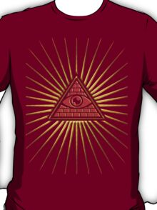 All Seeing Eye Of God, Flames - Symbol Omniscience T-Shirt
