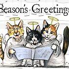 Caroling kittens by Danelle Malan