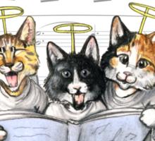 Caroling kittens Sticker