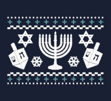 Funny Hanukkah Ugly Holiday Sweater Kids Tee