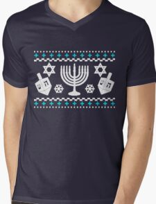 Funny Hanukkah Ugly Holiday Sweater Mens V-Neck T-Shirt