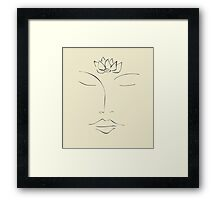 Meditation - Lotus Flower Framed Print