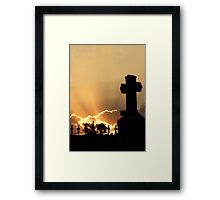 Graveyard Sunset Framed Print