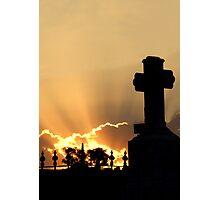 Graveyard Sunset Photographic Print