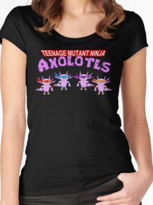 Teenage Mutant Ninja Axolotls Women's Fitted Scoop T-Shirt