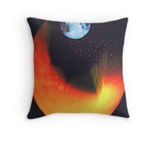 Volcanic Moon Throw Pillow