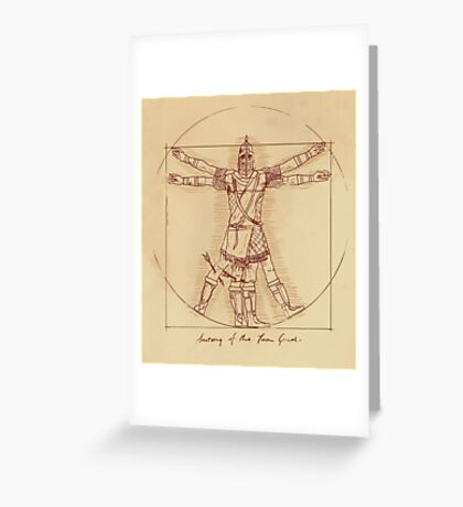 Anatomy of a Town Guard Greeting Card
