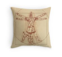 Anatomy of a Town Guard Throw Pillow