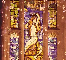 Mermaid Stain Glass Window by Serdd