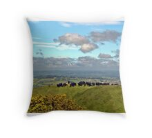 Crowded Hill Throw Pillow