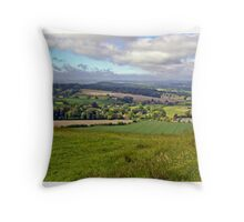 Wiltshire Countryside Throw Pillow