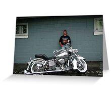 Chromed Out Shovelhead ~ Harley Davidson Greeting Card