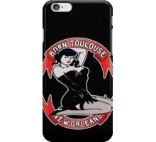 Born Toulouse 1, Black Background iPhone Case/Skin