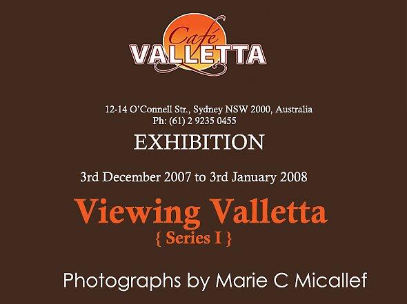 Cafe Valletta Exhibtion: Viewing Valletta  {Series I}  - flyer by Shutterbug