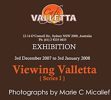 Cafe Valletta Exhibtion: Viewing Valletta  {Series I}  - flyer by Shutterbug