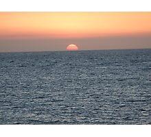 Glowing Sun Photographic Print