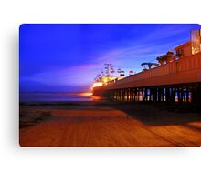 A Garage Door Opens to the Beach Canvas Print